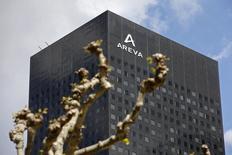 Areva a sélectionné l'offre Mirion Technologies, dont l'actionnaire majoritaire est le fonds Charterhouse, pour le rachat de sa filiale Canberra, spécialisée dans les instruments et mesures nucléaires. /Photo d'archives/REUTERS/Charles Platiau