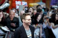 "Cast member Robert Downey Jr. poses at the european premiere of ""Avengers: Age of Ultron"" at Westfield shopping centre, Shepherds Bush, London April 21, 2015. REUTERS/Stefan Wermuth"