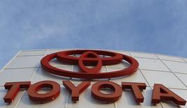 A logo is pictured at AutoNation Toyota dealership in Cerritos, California December 9, 2015.   REUTERS/Mario Anzuoni