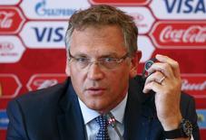 Secretário-geral da Fifa, Jérôme Valcke, durante eventona Rússia.     10/06/2015      REUTERS/Maxim Zmeyev