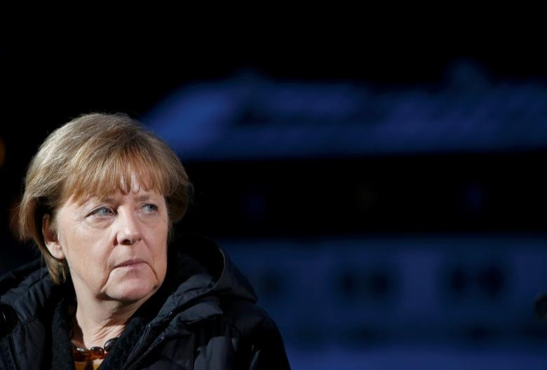German Chancellor Angela Merkel waits to give a statement during the annual Christian Social Union (CSU) Epiphany meeting in the southern Bavarian resort of Wildbad Kreuth near Munich, Germany January 6, 2016.   REUTERS/Michaela Rehle