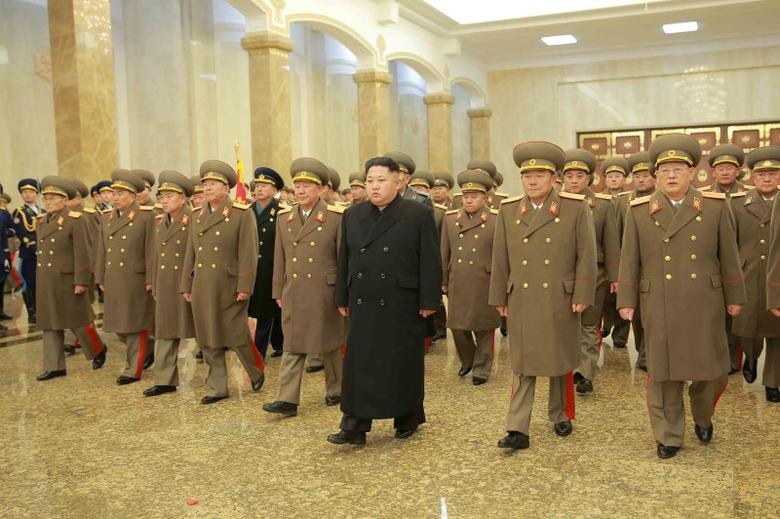 North Korean leader Kim Jong Un visits the Kumsusan Palace of the Sun on a national memorial day in this photo released by North Korea's Korean Central News Agency (KCNA) in Pyongyang December 17, 2015.