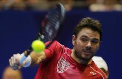 Tennis - International Premier Tennis League - Singapore Indoor Stadium, Singapore - 20/12/15 International Premier Tennis League Final File photo of Stan Wawrinka in action Action Images via Reuters / Jeremy Lee