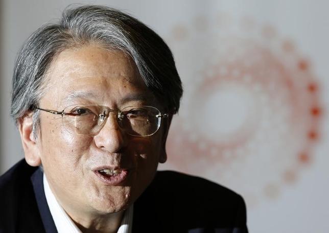 1月13日、元日銀理事の早川英男・富士通総研エグゼクティブ・フェローは、13日の講演でアベノミクスについて論評し、「円安・株高をもたらし点ではマル、物価上昇では三角、経済成長率はバツ」と指摘した。写真は都内で2014年5月撮影(2016年 ロイター/Toru Hanai)