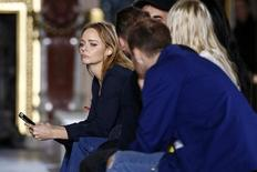 British designer Stella McCartney is seen during rehearsals before her Spring/Summer 2016 women's ready-to-wear fashion show in Paris, France, October 5, 2015. REUTERS/Benoit Tessier
