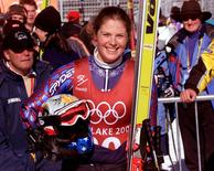 File picture of Picabo Street from February 2002.  REUTERS/Leonhard Foeger