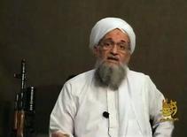 أيمن الظواهري زعيم تنظيم القاعدة - ارشيف رويترز (صورة لرويترز للاستخدام التحريري فقط ويحظر بيعها للحملات التسويقية أو الدعائية)