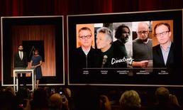 John Krasinski e Cheryl Boone Isaacs anunciam os indicados ao Oscar de melhor direção em 2016. 14/01/2016 REUTERS/Phil McCarten