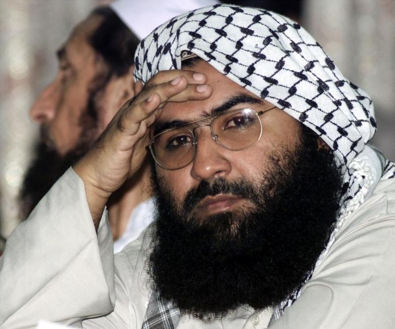 Maulana Masood Azhar, head of Pakistan's militant Jaish-e-Mohammad party,  in Islamabad August 26, 2001.  Reuters Photographer