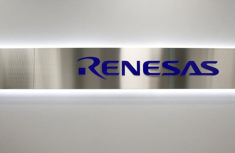 The logo of Renesas Electronics Corp is pictured at the company's headquarters in Tokyo, Japan, December 21, 2015.   REUTERS/Toru Hanai
