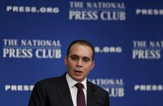 Jordanian Prince Ali bin al-Hussein discusses the FIFA corruption scandal at the National Press Club in Washington December 4, 2015. REUTERS/Gary Cameron