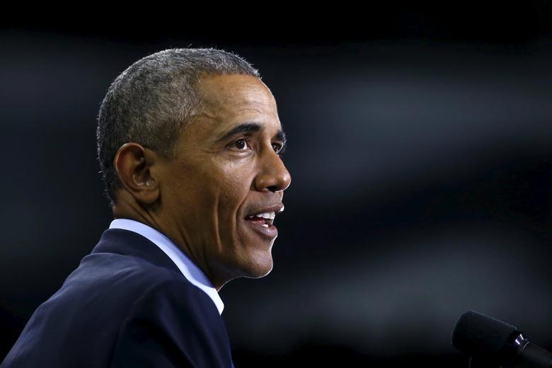 U.S. President Barack Obama delivers remarks at the University of Nebraska Omaha arena in Omaha, Nebraska, in this file photo dated January 13, 2016. REUTERS/Carlos Barria