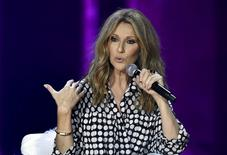 Canadian singer Celine Dion speaks during a news conference before her concert at The Colosseum at Caesars Palace in Las Vegas, Nevada August 27, 2015.  REUTERS/David Becker