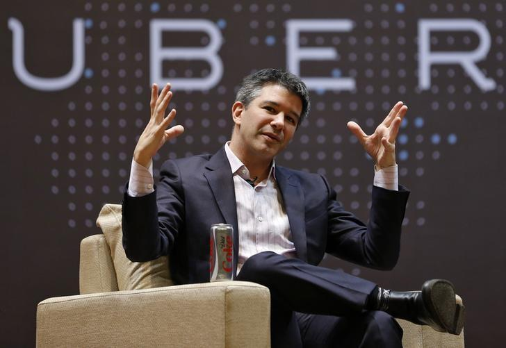 Uber CEO Travis Kalanick speaks to students during an interaction at the Indian Institute of Technology (IIT) campus in Mumbai, India, January 19, 2016. REUTERS/Danish Siddiqui - RTX231O8
