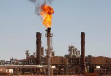 Les revenus de l'Etat algérien générés par les ressources pétrolières et gazières ont chuté de près de 41% en 2015, creusant un déficit commercial de 13,71 milliards de dollars (12,55 milliards d'euros), selon des chiffres du ministère des Finances publiés par plusieurs médias officiels mardi.  /Photo d'archives/REUTERS/Louafi Larbi