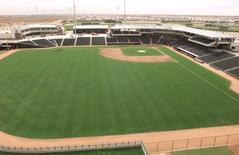 Surpirse Stadium, in Surprise, Arizona. REUTERS/Jeff Topping