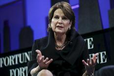 Marillyn Hewson, Chairman, President and CEO of Lockheed Martin, participates in a panel discussion at the 2015 Fortune Global Forum in San Francisco, California November 3, 2015. REUTERS/Elijah Nouvelage - RTX1UMLT