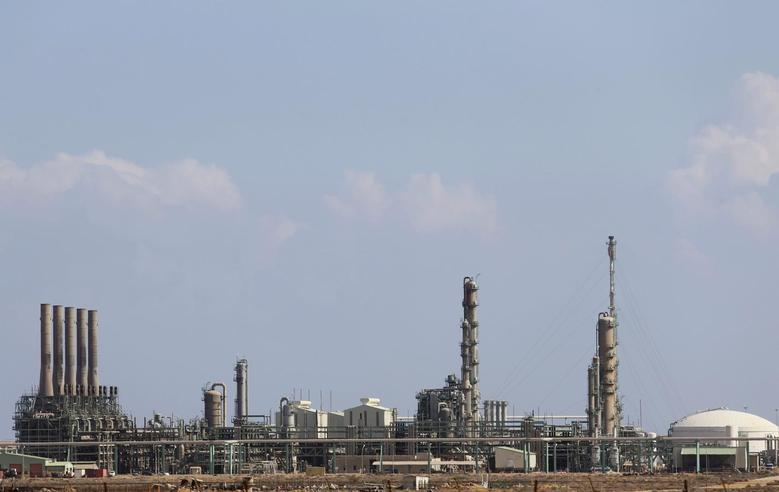 A general view of the industrial zone at the oil port of Ras Lanuf in this March 11, 2014 file photo.  REUTERS/Esam Omran Al-Fetori/Files
