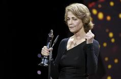 British actress Charlotte Rampling receives the Lifetime Achievement Award during the 28th European Film Award ceremony in Berlin, Germany December 12, 2015.   REUTERS/Clemens Bilan/Pool