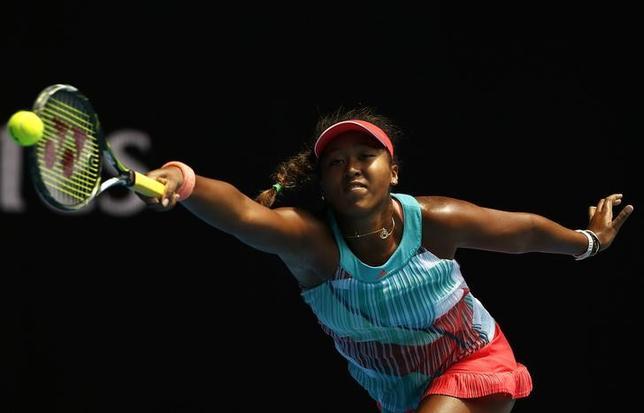 1月23日、テニスの四大大会初戦、全豪オープンの女子シングルス3回戦、大坂なおみ(写真)は第14シードで全豪優勝2回の実績を持つビクトリア・アザレンカに1─6、1─6で敗れた(2016年 ロイター/Issei Kato)
