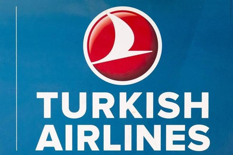 A file picture shows the Turkish Airlines logo at Berlin's Tegel Airport, Germany, November 6, 2012. REUTERS/Thomas Peter/files