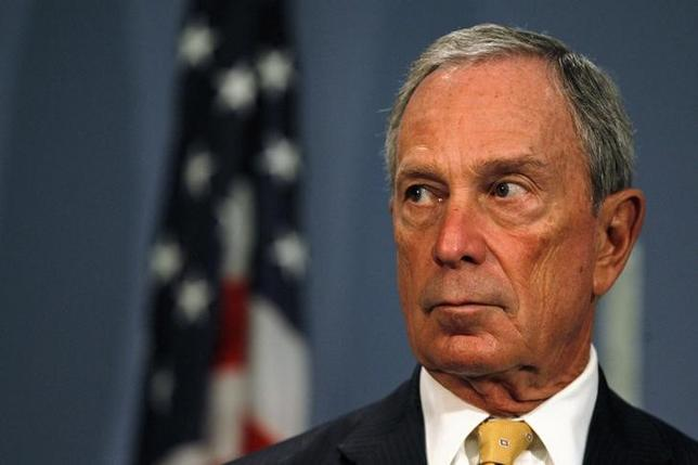 File photo of former New York City mayor Michael Bloomberg speaking during a news conference at City Hall in New York, September 18, 2013.  REUTERS/Brendan McDermid . SAP is the sponsor of this coverage which is independently produced by the staff of Reuters News Agency.