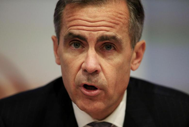 Bank of England Governor Mark Carney speaks during an inflation report news conference at the Bank of England in London, Britain, in this file photograph dated November 5, 2015. REUTERS/Jonathan Brady/pool/files