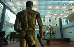Estátua de Hércules, de 300 antes de Cristo, no museu Capitoline, em Roma 22/12/2005