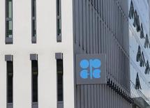 El edificio de la OPEP en Viena, mayo 29, 2013. Las naciones del Golfo Pérsico que integran la OPEP y Arabia Saudita están dispuestas a cooperar en cualquier acción para estabilizar el mercado petrolero, dijo el jueves un importante delegado regional del grupo exportador de crudo.  REUTERS/Leonhard Foeger