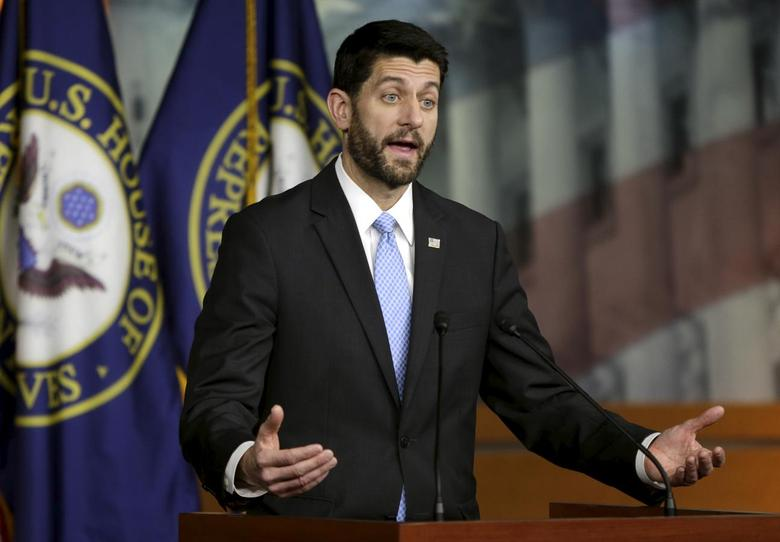 U.S. Speaker of the House Paul Ryan (R-WI) holds a news conference on Capitol Hill in Washington December 17, 2015.  REUTERS/Gary Cameron