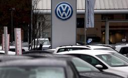 File photo of Volkswagen cars parked outside a VW dealership in London, Britain November 5, 2015. REUTERS/Suzanne Plunkett/Files