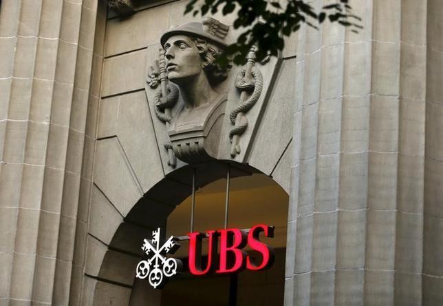 2月2日、スイスの金融大手UBSが発表した2015年通期決算で、純利益は市場予想を上回る62億スイスフラン(60億9000万ドル)と79%増加し、2010年以来の高水準となった。チューリヒで2015年7月撮影(2016年 ロイター/Arnd Wiegmann)