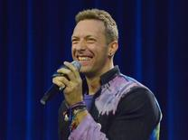 Feb 4, 2016; San Francisco, CA, USA; Recording artist Chris Martin of Coldplay during the Super Bowl 50 halftime show press conference at Moscone Center. Mandatory Credit: Kirby Lee-USA TODAY Sports