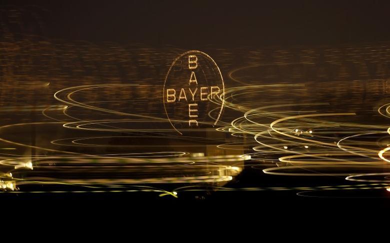 The logo of German drugmaker Bayer is seen in Leverkusen April 26, 2014. REUTERS/Ina Fassbender