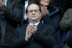 Rugby Union - France vs Italy - Stade de France, Paris, France - 6/2/16. French President Francois Hollande attends a Six Nations tournament match.  REUTERS/Gonzalo Fuentes