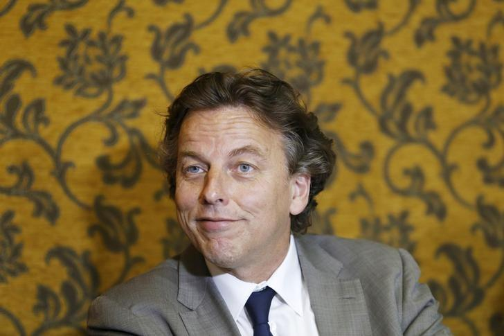 Dutch Foreign Minister Bert Koenders reacts during a news conference in Havana, May 7, 2015. REUTERS/Stringer