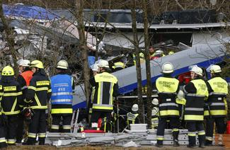 Train crash in Germany