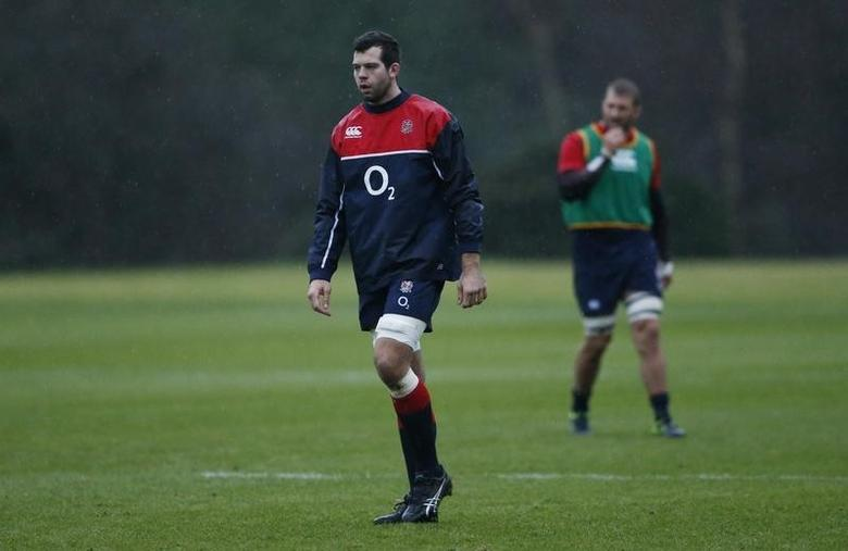 England's Josh Beaumont during training. Action Images via Reuters / Andrew BoyersLivepic