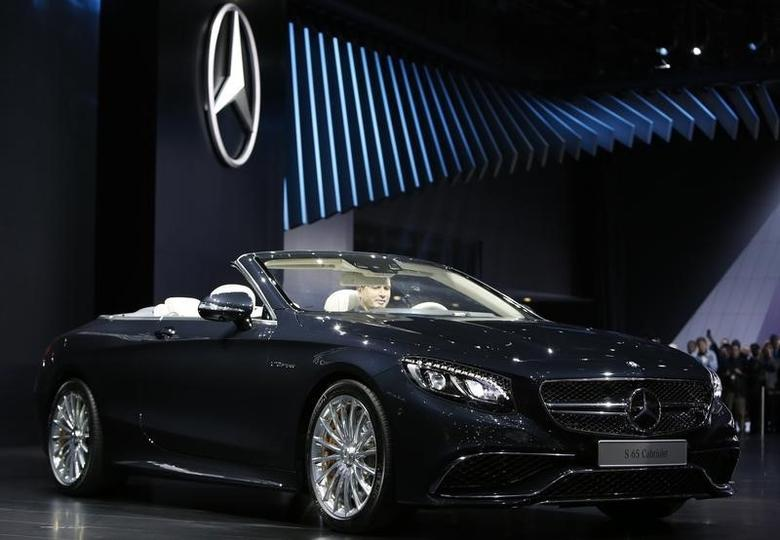 The 2016 Mercedes-AMG S 65 Cabriolet is displayed at the North American International Auto Show in Detroit, Michigan, Janurary 11. 2016.  REUTERS/Gary Cameron