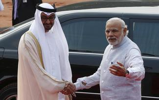Crown Prince of Abu Dhabi in India