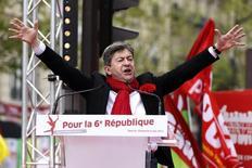 Político de esquerda francês Jean-Luc Melenchon durante evento em Paris. 05/05/2013 REUTERS/Charles Platiau