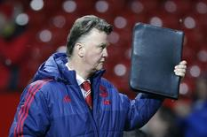 Técnico do Manchester United,  Louis van Gaal. 02/02/2016 Reuters / Phil Noble