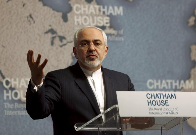 Iran's Foreign Minister Mohammad Javad Zarif speaks at Chatham House in London, Britain February 4, 2016. REUTERS/Neil Hall