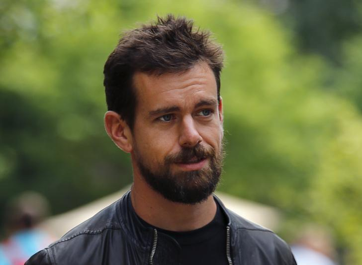 Jack Dorsey, then interim CEO of Twitter and CEO of Square, goes for a walk on the first day of the annual Allen and Co. media conference in Sun Valley, Idaho in this July 8, 2015 file photo.  REUTERS/Mike Blake