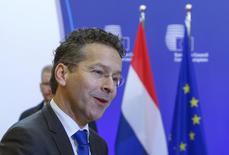 Eurogroup President Jeroen Dijsselbloem arrives at a European Union finance ministers meeting in Brussels, Belgium, January 15, 2016. REUTERS/Yves Herman