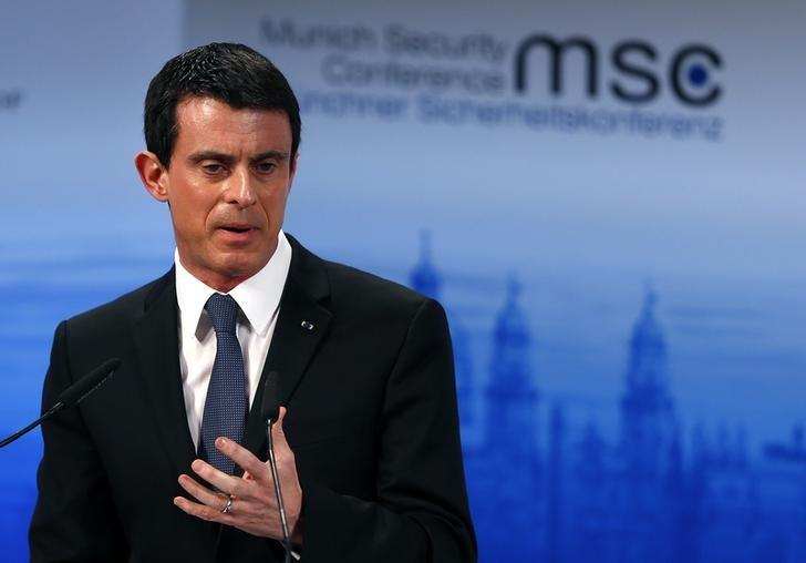 French Prime Minister Manuel Valls delivers a speech at the Munich Security Conference in Munich, Germany, February 13, 2016. REUTERS/Michael Dalder