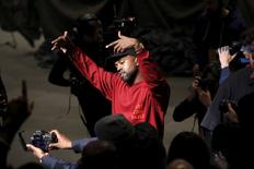 Kanye West durante apresentação na Fashion Week de Nova York.  11/2/2016. REUTERS/Andrew Kelly