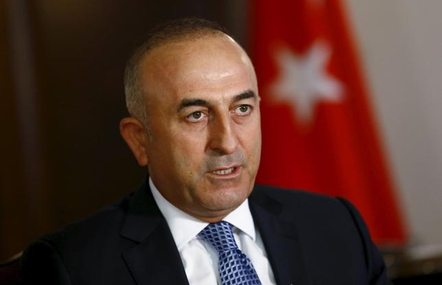 Turkey's Foreign Minister Mevlut Cavusoglu answers a question during an interview with Reuters in Ankara, Turkey, August 24, 2015. REUTERS/Umit Bektas