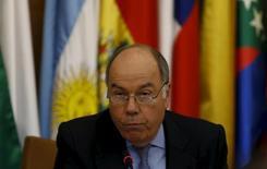 Ministro das Relações Exteriores, Mauro Vieira, durante entrevista coletiva em Riad, na Arábia Saudita. 11/11/2015 REUTERS/Faisal Al Nasser