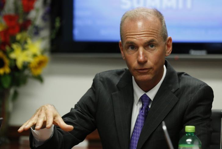 File photo of Dennis Muilenburg speaking during the last day of the Reuters Aerospace and Defense Summit in Washington September 11, 2014. REUTERS/Larry Downing